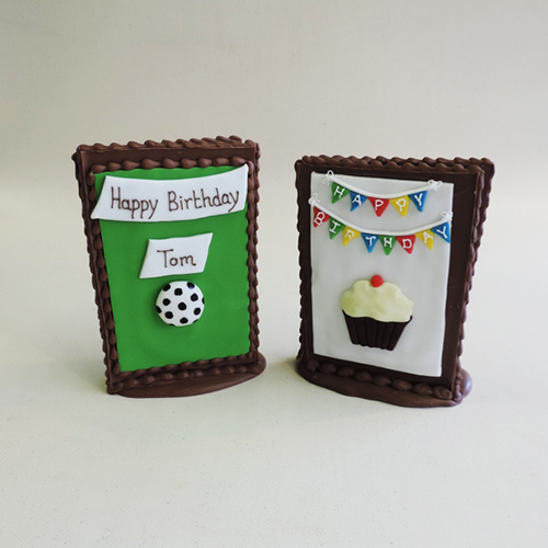Chocolate cards one of our many popular gifts